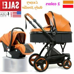 3 in 1 Luxury Foldable Baby Stroller High View Pram Infant P