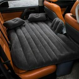 "53"" Car Air Bed Inflatable Mattress Back Seat Cushion With P"