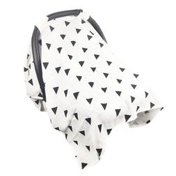 Baby Car Seat Cover,Cotton Muslin Canopy to Protect from Sun