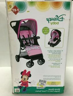 Disney Baby Minnie Mouse Simple Fold LX Travel System Meadow