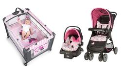Disney Baby Stroller with Car Seat Minnie Mouse Deluxe Playa