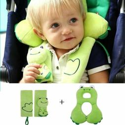 Baby Toddler Head Neck Support Headrest and Safety Belt Cove