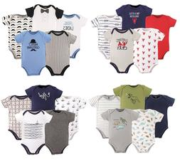 HUDSON BABY BOYS 5-PACK BODYSUITS COTTON NEWBORN TO 12 MONTH