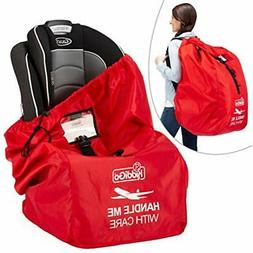 Car Seat Travel Carrier Bag Cover Airplane Gate Check Backpa