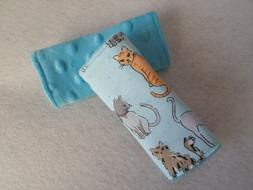 Cats - Reversible Infant / Toddler Fabric Car Seat Strap Cov