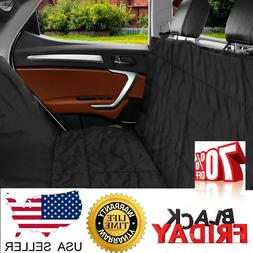Dog Car Seat Cover Waterproof for Rear Back Black-Fit for Al