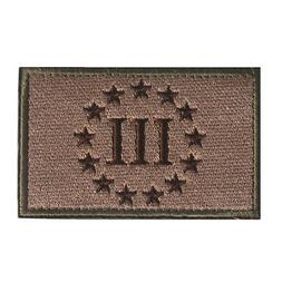 Emblem Three Percenter New Swat Military Patch Tape Shoulder