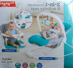 Infantino Go Gaga 2-in-1 Bouncer Activity Seat ~ NEW Music S