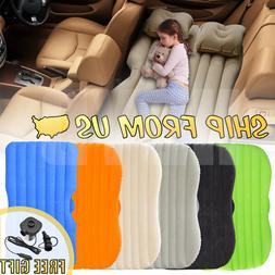 Inflatable Travel Car Air Bed Camping Mattress Back Seat Sle