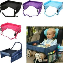 Kids Travel Tray Car Seat Play Table Board for Snack Waterpr