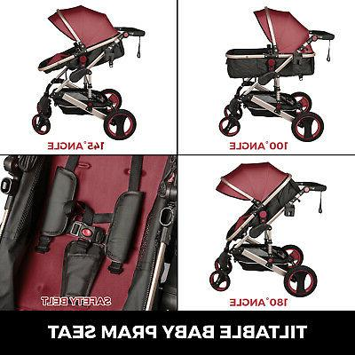 Baby Stroller Pushchair Buggy Infant With Car