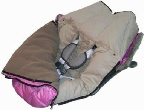 "7 Enfant Sac Igloo 500"" Car Seats Bunting Brown Large"