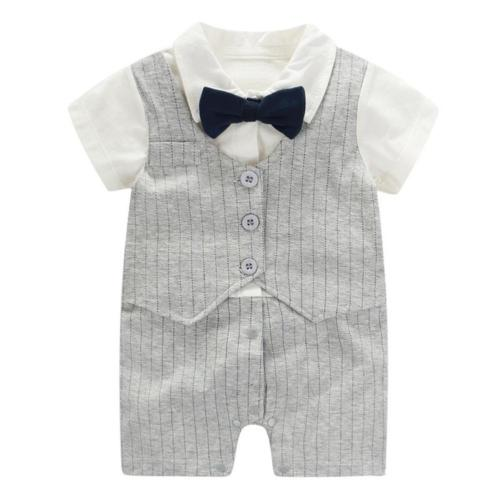 baby boy formal outfit short sleeve tuxedo