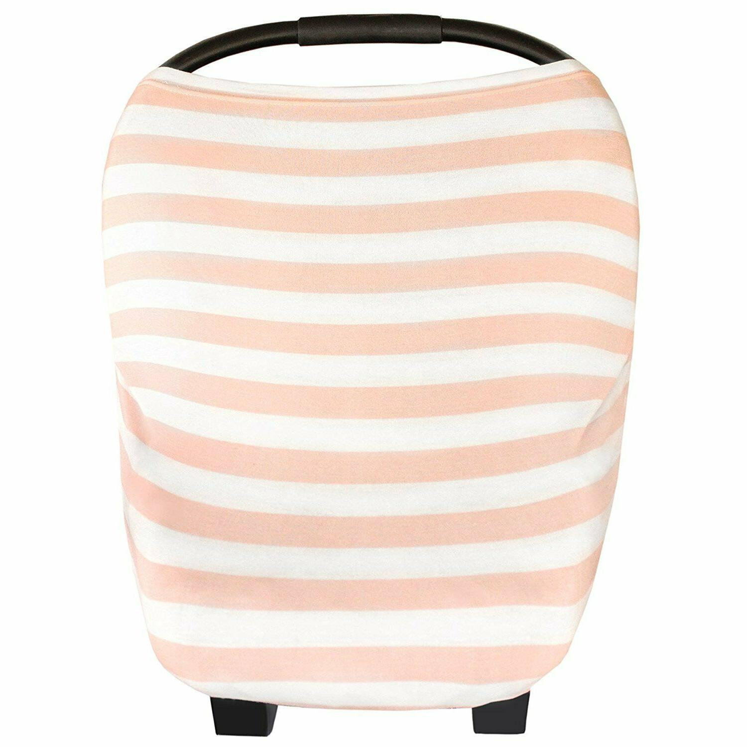 Baby Car Seat Cover Canopy and Nursing Cover Stretchy 5 in 1