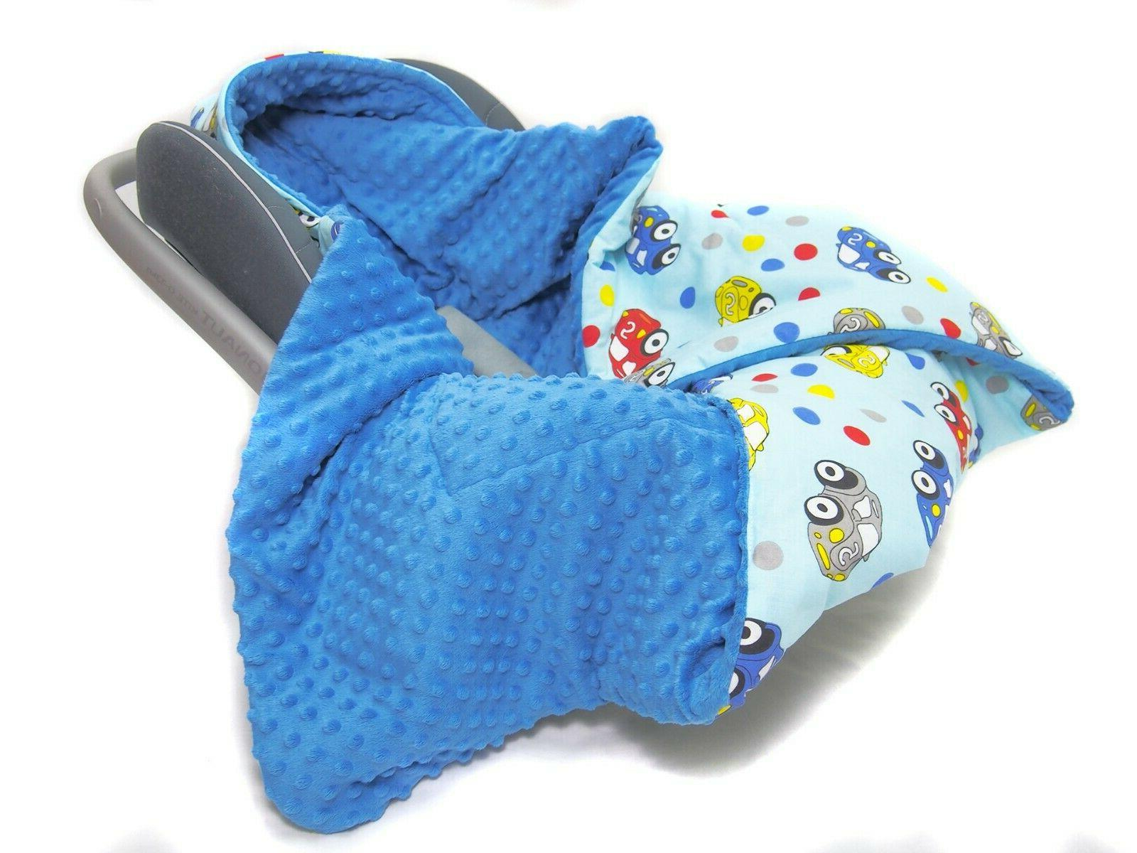 HOODED CAR BABY FILLED BLANKET– COSYTOES all season Plush