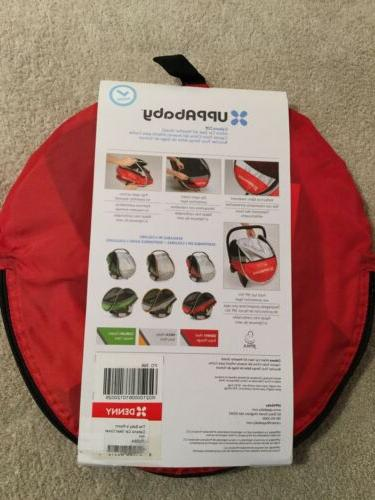UPPABaby Infant Car All Weather Shield. Red. NEW.