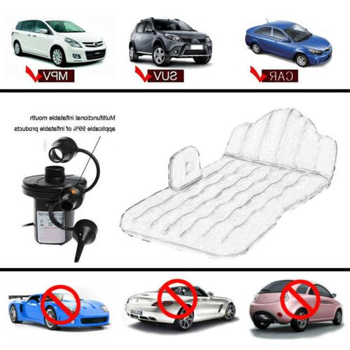 Inflatable Car Mattress for Car Seat Bed Beach Camping Bed