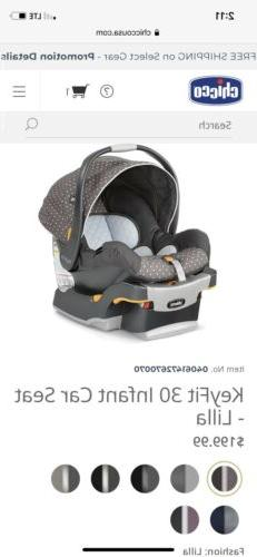 Chicco KeyFit 30 Infant Car Seat, Lilla Brand New in opened