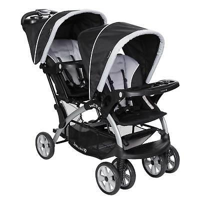Stand Double Stroller 2 Car Seats System,