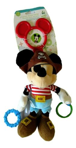 Disney Mickey Mouse Pirate Activity Toy Rattle Rings Touch A