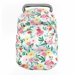 Nursing Cover Breastfeeding Scarf-Car Seat Covers for Babies