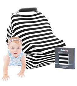 Pepbaby Breathable Baby Car Seat Cover Canopy Nursing Black