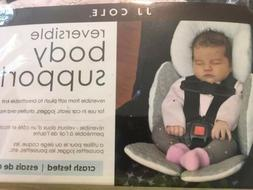 JJ Cole Reversible Body Support for baby car seat Pale Pink