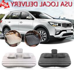 Travel Inflatable Car Mattress Air Bed Back Seat Sleep Rest