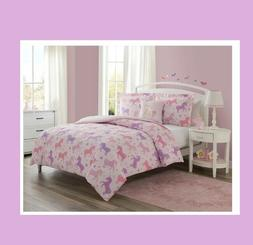 Unicorn Comforter for Girls Twin Bedding Cover Set Bedspread