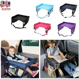 Waterproof Portable Kids Safety Car Seat Tray Table Play Tra